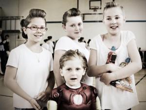 Rye Primary pupils in Brando -Dean style