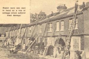 St Margarets Terrace after a Raid