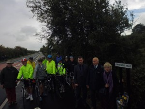 Cycle Path - Opening of Graham's Way