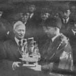 E F Benson Recieves Freeman Award from Mayor Marsden 1938