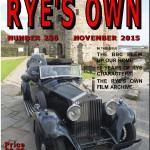RYE'S OWN NOVEMBER 2015 COVER