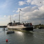 Balmoral slips into Rye Harbour and moors for the night at Rye Wharf.