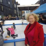 The Mayor at the Ice Rink