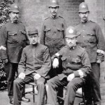 Rye Police Force 1911. Seated Supt. Whitlock and Sgt. Sinclair Seated