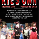 Ryes Own Cover Feb 2016