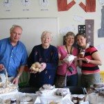 Three generations of Caroline Challans family help out at the Coffee Morning