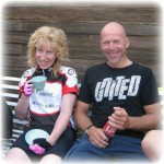 Bronwen Ewing and Barry Goodsell. Two thirds of the winning Rye Wheelers Team
