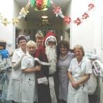 Care Centre Nurses with Santa on Christmas Morning