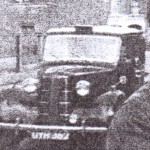 Harry Walker with his Taxi and Grandson