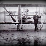 Alec Ogilvey on Camber Sands after his Flight a