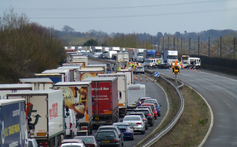 M20 Accident Closes Motorway Near Sellindge