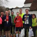 Ham Street Runners (from left to right) Fiona, Stuart, Julius, Mark, Stephen, Tony, Matt, Amber and Will.
