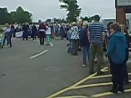Mass Demonstration Against Shepway District Council.