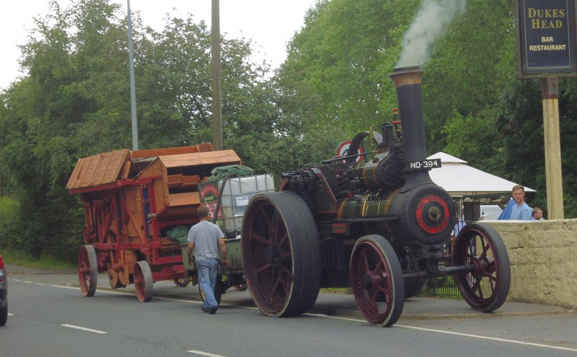 Steam Tractor Stops for a Drink at Sellindge