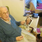 George opens his Birthday Card from The Queen