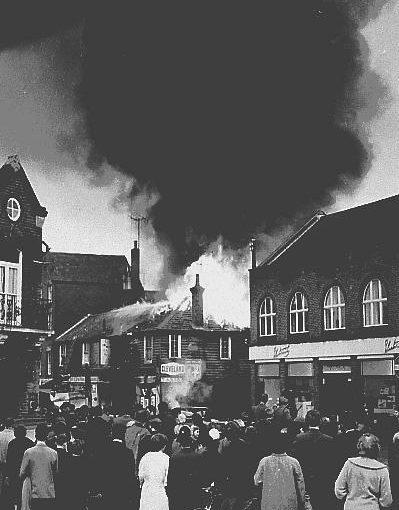 Fire At Central Garage 1961