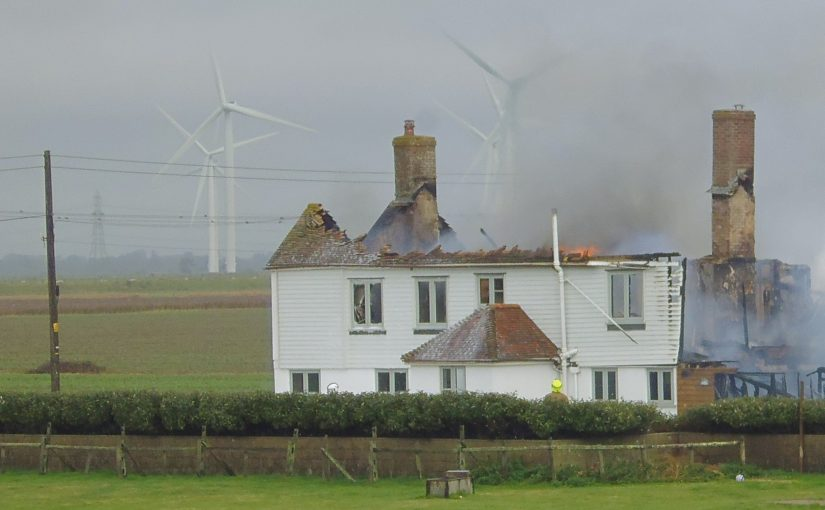 Massive Farm Fire Near Camber